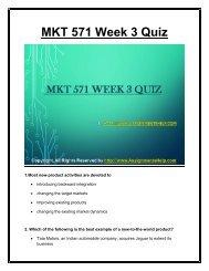 MKT 571 Week 3 Quiz  UOP Material.pdf