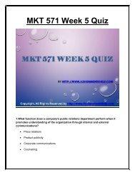 MKT 571 Week 5 Quiz UOP Material.pdf