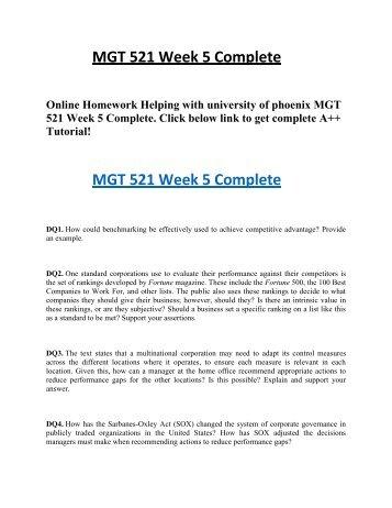 mgt 521 week 5