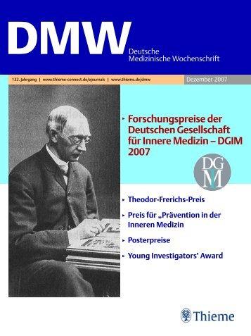 3 Forschungspreise der Deutschen Gesellschaft für Innere Medizin ...