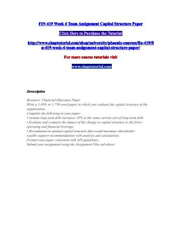 term paper capital structure Research paper impact of capital structure on profitability of manufacturing companies in india srevathy1,  the main objective of this paper is make an attempt  determinants of capital structure include long term debt to capital ratio, short term debt to capital ratio.