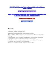 FIN 419 Week 5 Learning Team Assignment International Finance Paper (2 Papers)/shoptutorial