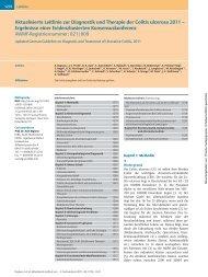 Aktualisierte Leitlinie zur Diagnostik und Therapie der Colitis - DGVS