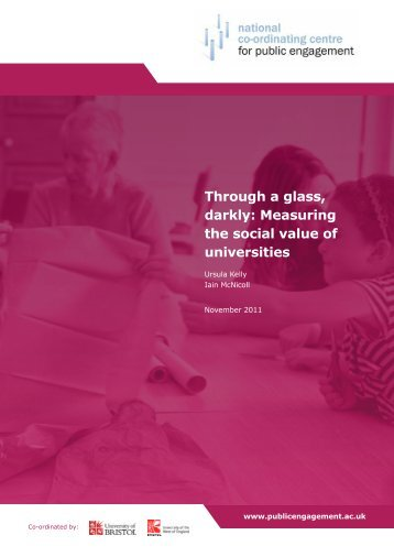 Through a glass darkly Measuring the social value of universities
