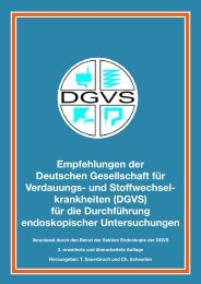 Empfehlungen der Deutschen Gesellschaft für Verdauungs ... - DGVS