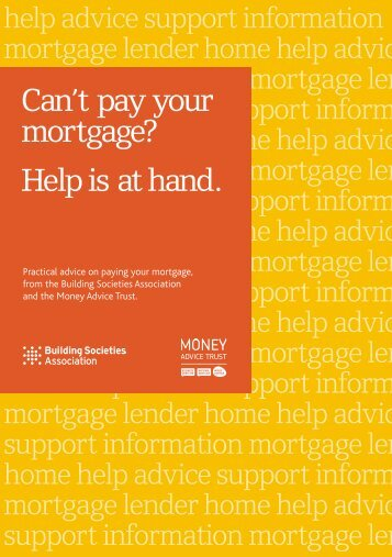 Can't pay your mortgage? Help is at hand