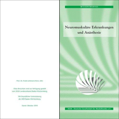 Neuromuskuläre Erkrankungen und Anästhesie - Deutsche ...