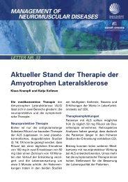 Aktueller Stand der Therapie der Amyotrophen Lateralsklerose