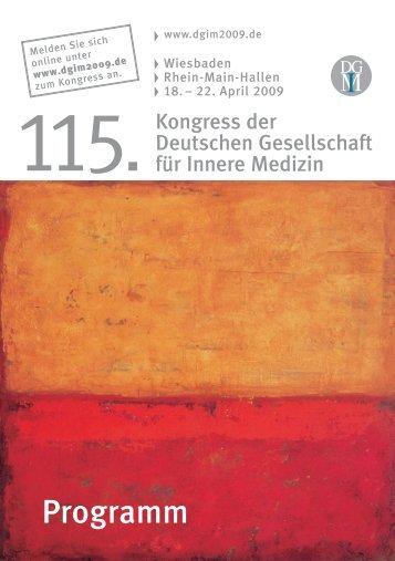 Programm - Deutsche Gesellschaft für Innere Medizin (DGIM)