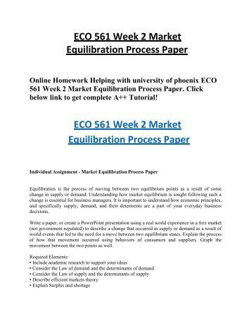 market equilibration process paper essay