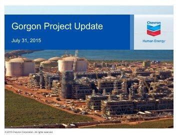 Gorgon Project Update