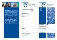 Seminar DGMT - Deutsche Gesellschaft für Membrantechnik