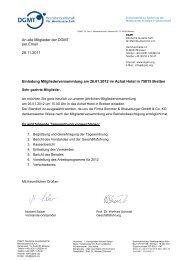 An alle Mitglieder der DGMT per Email 28.11.2011 Einladung ...