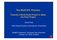 The Shell GTL Process: - DGMK