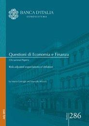 Questioni di Economia e Finanza