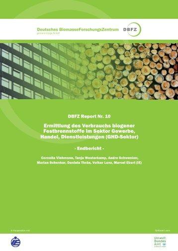 DBFZ Report Nr. 10 - Deutsches Biomasseforschungszentrum