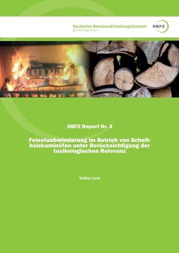 DBFZ Report Nr. 3 - Deutsches Biomasseforschungszentrum