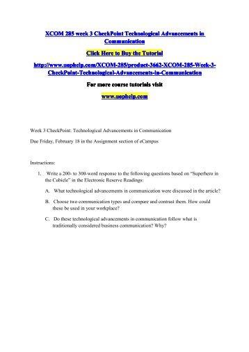 Soc 305 Bright Tutoring/Soc30Com Essay