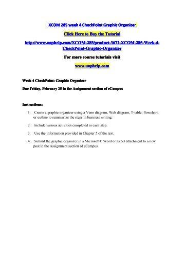 xcom 285 week 4 checkpoint graphic organizer Xcom 285 innovative educator/ xcom285com by: naveenkumar11 share & embed overview xcom 285 week 4 checkpoint graphic organizer,cat2qmediaimage3.