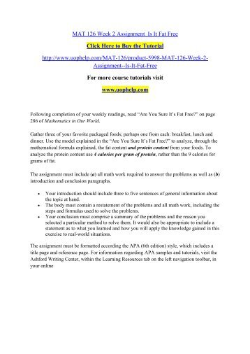 Mat126 wk 1 written assignment a