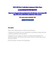 MGT 498 Week 2 Individual Assignment Ethics Paper/shoptutorial