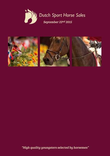 Dutch Sport Horse Sales Catalogue 2015