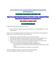 CJA 214 Week 2 Team AssignmentPolice Department Organization Presentation(New) / uophelp