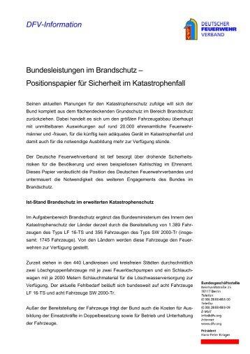 DFV-Information - Deutscher Feuerwehrverband