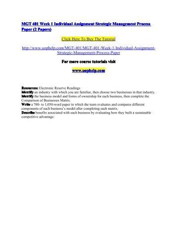 strategic marketing management assignment pdf
