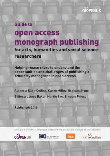 open access monograph publishing