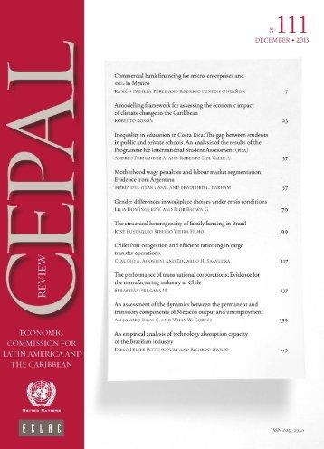 CEPAL Review Nº111