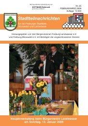 Liebe Leser - Bürgerverein Freiburg Mooswald eV
