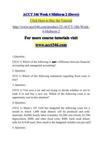 ACCT 346 Week 4 Midterm 2 / acct346dotcom
