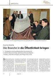 Die Branche in die Öffentlichkeit bringen - Holzbau Deutschland