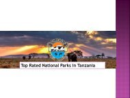 Top Rated National Parks in Tanzania