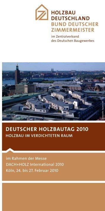 DEUTSCHER HOLZBAUTAG 2010 - Holzbau Deutschland