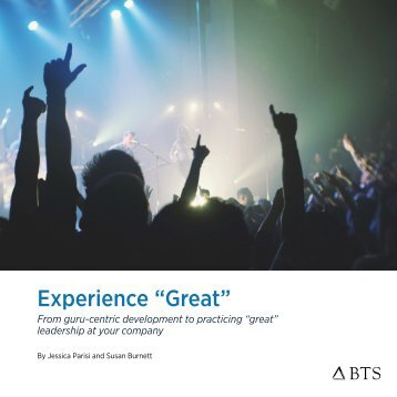 """Experience """"Great"""""""