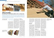 Diffusionsoffen – Verarbeitung von Holzfaserdämmstoffen im Holz