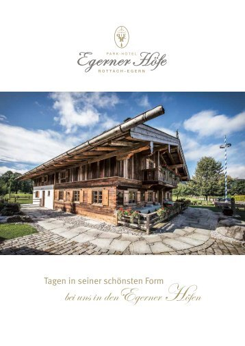 Park-Hotel Egerner Höfe - Tagungsbroschüre