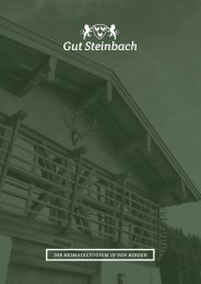 Hotel & Chalets Gut Steinbach - Tagungsbroschüre