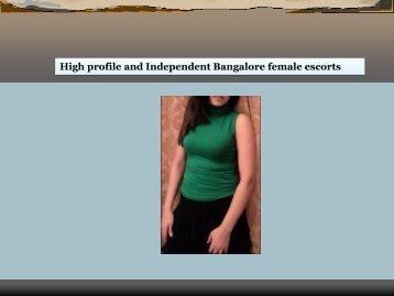High profile and Independent Bangalore female escorts.pdf