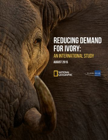 REDUCING DEMAND FOR IVORY