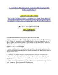 ECO 415 Week 2 Learning Team Instructions Maximizing Profits Within Markets Paper.pdf