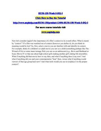 HUM-150-Week-5-DQ-3/UopHelp