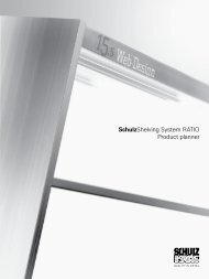 Schulzshelving System RATIO Product planner