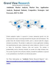 Andalusite Market Analysis, Growth, Trends To 2022: Grand View Research, Inc.