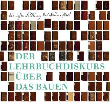 die ächte Bildung des Baumeisters …« – Der ... - IDB - ETH Zürich