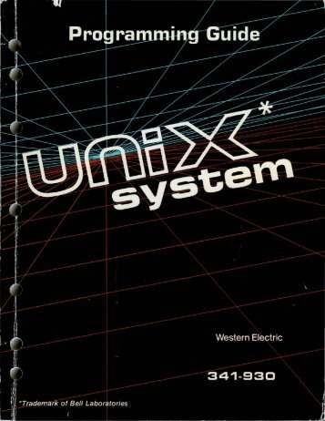 PROGRAMMING GUIDE UNIX* SYSTEM