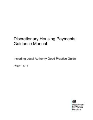 Discretionary Housing Payments Guidance Manual