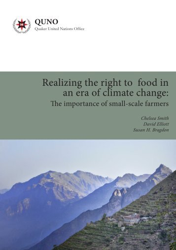 Realizing the right to food in an era of climate change